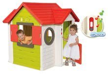 Detský domček My House Smoby s 2 dverami a elektronickým zvončekom UV filter (Mom and Dad's home ) 120*115*135 cm výška 81040