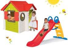 Set domček My House Smoby so zvončekom a 2 dverami+šmykľavka Funny toboggan 2 metrová SM810402-24