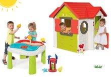 Set domeček My House Smoby s elektronickým zvonkem a stůl Voda&Písek od 24 měsíců