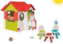 Set domček My House Smoby so zvončekom a 2 dverami+2 stoličky a stolček KidChair SM810402-31