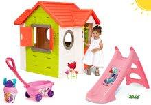 Kućice s toboganom  - Set kućica My Neo House DeLuxe Smoby sa zvoncem i dvoma vratima te tobogan Princeze Toboggan s kolicima od 24 mjeseca_28