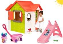 Kućice s toboganom  - Set kućica My Neo House DeLuxe Smoby sa zvoncem i dvoma vratima te tobogan Princeze Toboggan s kolicima od 24 mjeseca_27