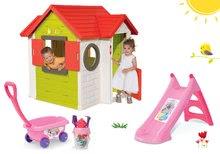 Kućice s toboganom  - Set kućica My Neo House DeLuxe Smoby sa zvoncem i dvoma vratima te tobogan Princeze Toboggan s kolicima od 24 mjeseca_29