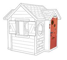 Šmykľavky s domčekom - Set šmykľavka Toboggan XL Smoby s vodou dĺžka 230 cm a domček My House s 2 dvierkami_20