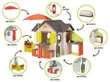 Šmykľavky s domčekom - Set šmykľavka Toboggan XL Smoby s vodou dĺžka 230 cm a domček My House s 2 dvierkami_21