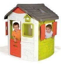 Domčeky s nábytkom - Set domček Neo Jura Lodge Smoby s dvoma dverami a piknik stolík s dvoma stoličkami KidChair Red_0