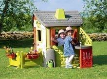 Domčeky s nábytkom - Set domček Neo Jura Lodge Smoby s dvoma dverami a piknik stolík s dvoma stoličkami KidChair Red_1