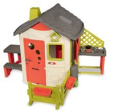 Domčeky s nábytkom - Set domček Neo Jura Lodge Smoby s dvoma dverami a piknik stolík s dvoma stoličkami KidChair Red_19