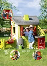 Domčeky s nábytkom - Set domček Neo Jura Lodge Smoby s dvoma dverami a piknik stolík s dvoma stoličkami KidChair Red_18