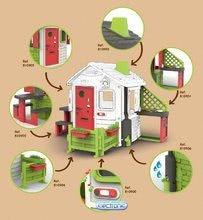 Domčeky s nábytkom - Set domček Neo Jura Lodge Smoby s dvoma dverami a piknik stolík s dvoma stoličkami KidChair Red_17