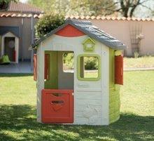 Domčeky s nábytkom - Set domček Neo Jura Lodge Smoby s dvoma dverami a piknik stolík s dvoma stoličkami KidChair Red_8