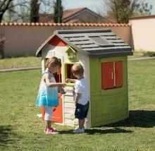 Domčeky s nábytkom - Set domček Neo Jura Lodge Smoby s dvoma dverami a piknik stolík s dvoma stoličkami KidChair Red_9