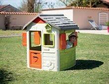 Domčeky s nábytkom - Set domček Neo Jura Lodge Smoby s dvoma dverami a piknik stolík s dvoma stoličkami KidChair Red_13
