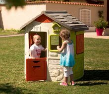 Domčeky s nábytkom - Set domček Neo Jura Lodge Smoby s dvoma dverami a piknik stolík s dvoma stoličkami KidChair Red_14
