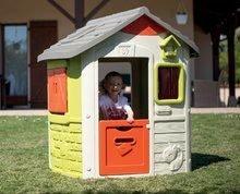 Domčeky s nábytkom - Set domček Neo Jura Lodge Smoby s dvoma dverami a piknik stolík s dvoma stoličkami KidChair Red_16
