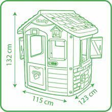 Domčeky s nábytkom - Set domček Neo Jura Lodge Smoby s dvoma dverami a piknik stolík s dvoma stoličkami KidChair Red_37
