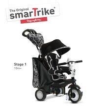 Tricicletă Chic Touch Steering 4in1 smarTrike negru-alb de la 10 luni