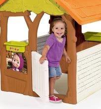 Detské domčeky - Rozprávkový domček Máša a medveď Smoby s kvetináčmi od 24 mes_1
