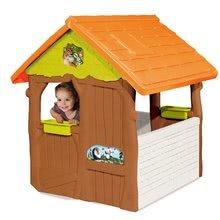 Detské domčeky - Rozprávkový domček Máša a medveď Smoby s kvetináčmi od 24 mes_2