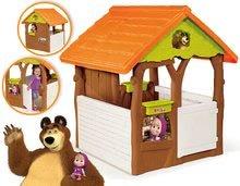Detské domčeky - Rozprávkový domček Máša a medveď Smoby s kvetináčmi od 24 mes_3