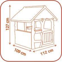 Detské domčeky - Rozprávkový domček Máša a medveď Smoby s kvetináčmi od 24 mes_4
