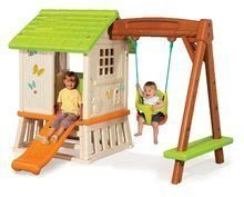 Domčeky so šmykľavkou - Set domček Pretty Forest Hut Smoby so šmykľavkou a vedro set s fúrikom od 18 mes_0