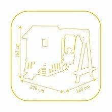 Domčeky so šmykľavkou - Set domček Pretty Forest Hut Smoby so šmykľavkou a vedro set s fúrikom od 18 mes_4