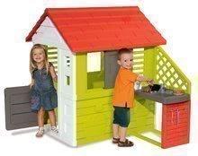 Detský domček Pretty Nature Smoby s letnou kuchynkou a zasúvacou okenicou s UV filtrom od 2 rokov