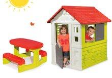 Set domček pre deti Nature Smoby a piknikový stôl od 2 rokov