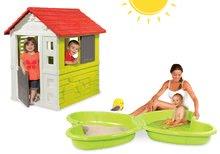 Set domeček pro děti Nature Smoby a pískoviště Motýl s vodotryskem od 2 let