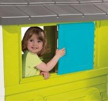 Domčeky s preliezačkou - Set domček Pretty Blue Smoby so zasúvacou okenicou a preliezačka Multiactivity Climbing Tower so šmykľavkou od 24 mes_2