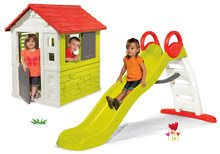 Domčeky so šmykľavkou - Set domček Nature Smoby a šmykľavka Funny Toboggan s dĺžkou 2 m od 24 mes_15