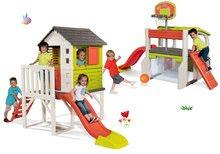 Set kućica na stupovima Pilings House Smoby s toboganom od 1,5 m i centar za igranje Fun Center sa stolom od 24 mjeseca