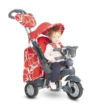 Tricicleta Explorer Red ghidare 360° 5in1 smarTrike cu spătar rabatabil și amortizor roșu-negru de la 10 luni