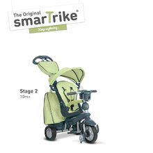 Trojkolky od 10 mesiacov - Trojkolka Explorer Green 5v1 smarTrike 360° riadenie s polohovateľným sedadlom šedo-zelená od 10 mes_1