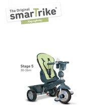 Trojkolky od 10 mesiacov - Trojkolka Explorer Green 5v1 smarTrike 360° riadenie s polohovateľným sedadlom šedo-zelená od 10 mes_4