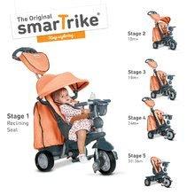 Trojkolky od 10 mesiacov - Trojkolka Explorer Orange smarTrike 360° riadenie s polohovateľnou opierkou 5v1 šedo-oranžová od 10 mes_6