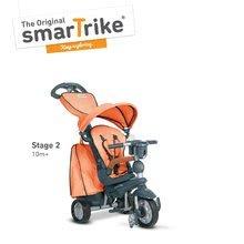 Trojkolky od 10 mesiacov - Trojkolka Explorer Orange smarTrike 360° riadenie s polohovateľnou opierkou 5v1 šedo-oranžová od 10 mes_2