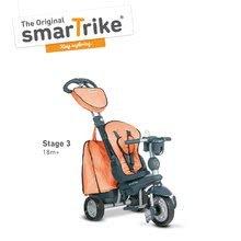 Trojkolky od 10 mesiacov - Trojkolka Explorer Orange smarTrike 360° riadenie s polohovateľnou opierkou 5v1 šedo-oranžová od 10 mes_3