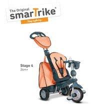 Trojkolky od 10 mesiacov - Trojkolka Explorer Orange smarTrike 360° riadenie s polohovateľnou opierkou 5v1 šedo-oranžová od 10 mes_4