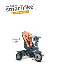 Trojkolky od 10 mesiacov - Trojkolka Explorer Orange smarTrike 360° riadenie s polohovateľnou opierkou 5v1 šedo-oranžová od 10 mes_5