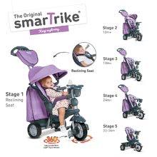 Tricikel Explorer Lila 5v1 smarTrike 360° z nastavljivim sedežem vijolično-siv od 10 mes
