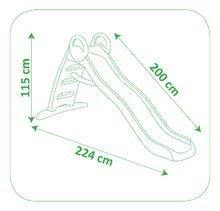 Šmykľavky sety - Set šmykľavka Toboggan Funny Smoby dĺžka 2 m, vedro set a fúrik od 24 mes_9