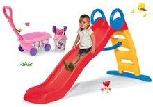 Komplet tobogan Funny Toboggan Smoby 2 metrski in voziček za vlečenje Minnie z vedro setom od 24 mes