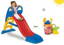 Skluzavky pro děti - Set skluzavka Toboggan KS Smoby 150 cm s vodou a kbelík set do písku Auta od 24 měsíců_10