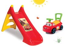 Šmykľavky sety - Set šmykľavka Autá Toboggan XS Smoby dĺžka 90 cm a odrážadlo Cars Auto 2v1_12