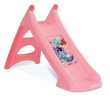 Tobogan Disney Prințese Toboggan XS Smoby cu jet de apă, cu o supafață de alunecare de 90 cm de la 2 ani