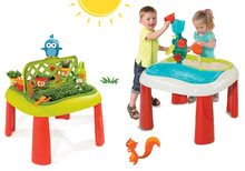 Szett gyerek asztal Kertész De Jardinage 2in1 Smoby kerítéssel és asztal Víz&Homok 2in1 malommal 2 éves kortól