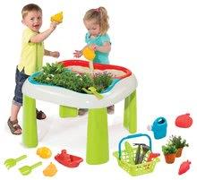 Domčeky s pieskoviskom - Set domček Priateľov Smoby s kuchynkou a zvončekom a stôl Záhradník De Jardinage 2v1_0