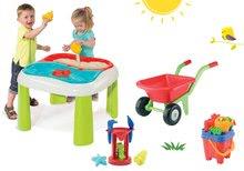 Detský záhradný nábytok sety - Set stôl Voda&Piesok 2v1 Smoby a fúrik s vedro setom od 18 mes_12